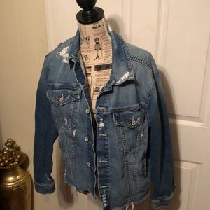 MOTHER Superior Distressed Denim Jacket